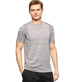 Calvin Klein Performance Men's Short Sleeve Space Dyed Mixed Media Tee