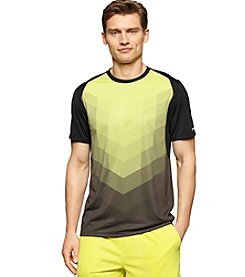 Calvin Klein Performance Men's Short Sleeve Chevron Engineered Tee