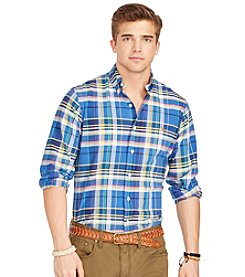 Polo Ralph Lauren® Men's Long Sleeve Plaid Button Down Shirt