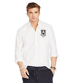 Polo Ralph Lauren® Men's Long Sleeve Oxford Rugby Logo Button Down Shirt
