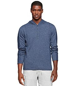 Calvin Klein Jeans Men's Big & Tall Long Sleeve Knit Henley Hoodie