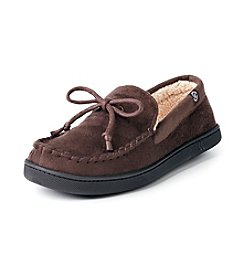 Isotoner Signature® Men's Microsuede Sherpa Moccasin