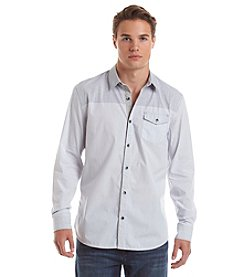 DKNY JEANS® Men's Long Sleeve Engineered Stripe Button Down Shirt