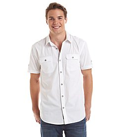 DKNY JEANS® Men's Short Sleeve 2-Pocket Military Button Down Shirt