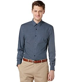 Perry Ellis® Men's Long Sleeve Large Dot Button Down Shirt