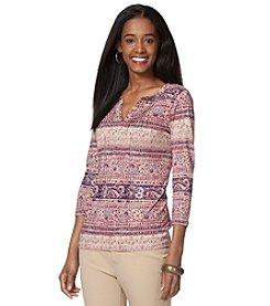 Chaps® Ethinic Stripe Knit Tee