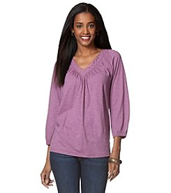 Chaps® 3/4 Sleeve Knit Top