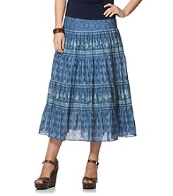 Chaps® Patchwork Full Skirt