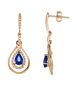 .16 Ct. T.W. Sapphire Earrings In 10K White Gold