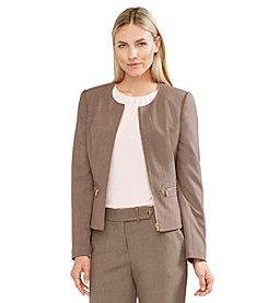 Calvin Klein Peplum Front Zip Jacket