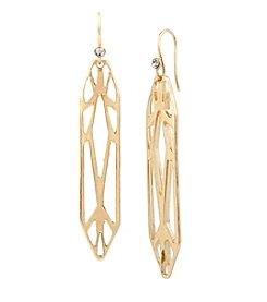 Kenneth Cole® Goldtone Geometric Cut Out Linear Earrings