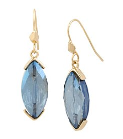 Kenneth Cole® Goldtone Faceted Stone Drop Earrings