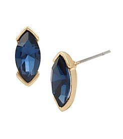 Kenneth Cole® Goldtone Faceted Stone Stud Earrings