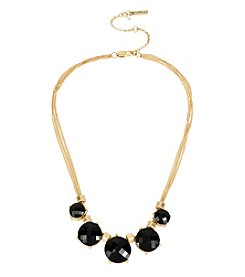 Kenneth Cole® Goldtone Faceted Stone Frontal Necklace