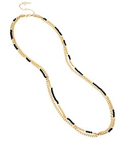 Kenneth Cole® Goldtone Faceted Bead Long Necklace