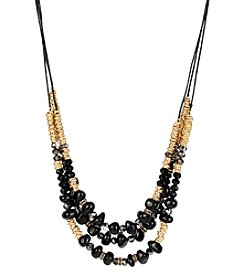 Kenneth Cole® Goldtone Mixed Stone & Bead Multi Row Necklace