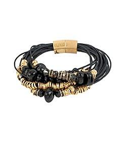 Kenneth Cole® Goldtone Mixed Stone & Bead Multi Row Bracelet