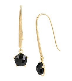 Kenneth Cole® Goldtone Faceted Stone Long Drop Earrings