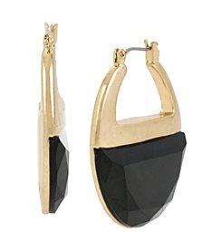 Kenneth Cole® Goldtone Faceted Stone Hoop Earrings