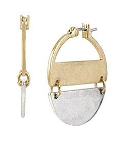 Kenneth Cole® Two-Tone Hoop Earrings