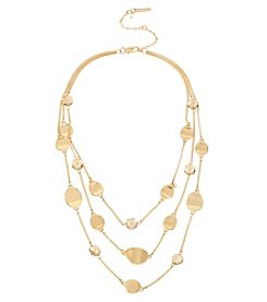 Kenneth Cole® Mixed Bead Goldtone Illusion Necklace