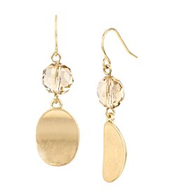 Kenneth Cole® Mixed Bead Double Drop Goldtone Earrings