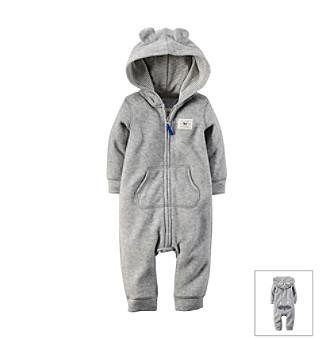 0b4732146c81 UPC 888510828501 - Carters 12 Month Baby Bear Fleece Jumpsuit Grey ...
