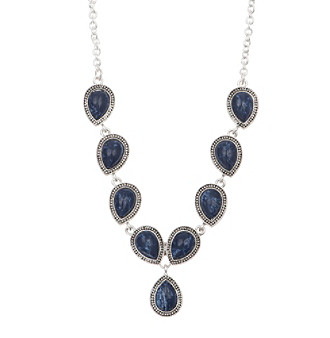 Nine West Vintage America Collection® Silvertone And Denim Stone Y-Necklace plus size,  plus size fashion plus size appare