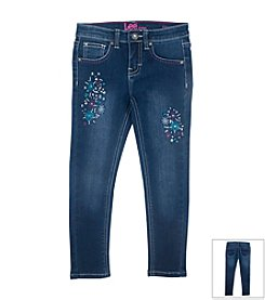Lee® Girls' 2T-6X Embroidered Skinny Jeans