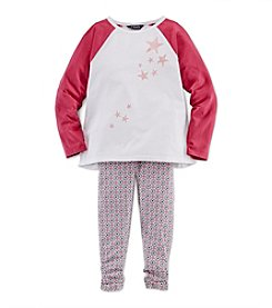 Chaps® Girls' 2T-4T 2-Piece Outfit Set