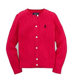 Ralph Lauren Childrenswear Girls' 2T-4T Long Sleeve Solid Cardigan