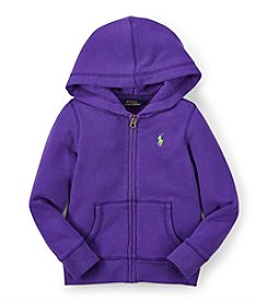 Ralph Lauren Childrenswear Girls' 2T-4T Fleece Hoodie