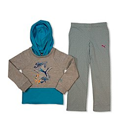 PUMA® Girls' 2T-4T Hooded Top With Leggings Set