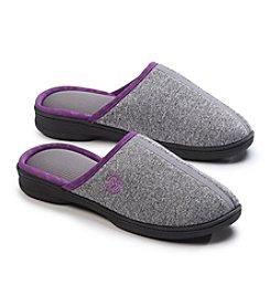 Isotoner Signature® Active Heathered Knit Hoodback Slippers
