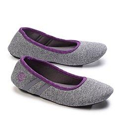 Isotoner Signature® Active Heathered Knit Ballerina Slippers