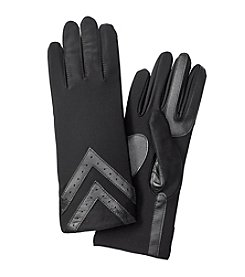 Isotoner Signature® Women's SmarTouch Spandex Gloves with Chevron Applique