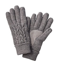Isotoner® Signature Solid Triple Cable Knit Gloves