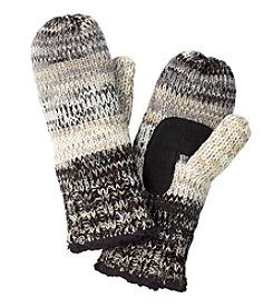 Isotoner Signature® Multi Marled Striped Mittens With Suede Palm Patch