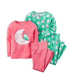 Carter's® Girls' 12M-8 Four-Piece Snug-Fit Cotton Pajamas