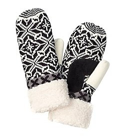 Isotoner® Signature Fair Isle Mittens With Sherpa Cuff