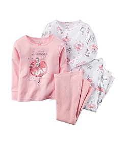 Carter's® Girls' 2T-4T 4-Piece Snug Fit Cotton Pajamas