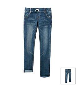 Vigoss® Girls' 7-16 Drawstring Roll Cuff Jeans