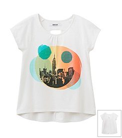 DKNY® Girls' 7-16 Skyscrapers And Smiles Tee