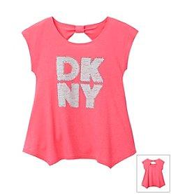 DKNY® Girls' 7-16 Big Logo Tee