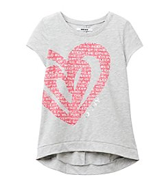 DKNY® Girls' 7-16 Big Love Heart Tee