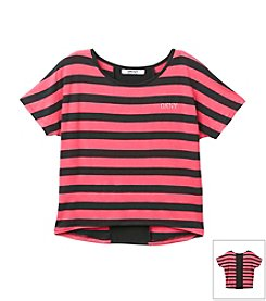 DKNY® Girls' 7-16 Striped Emma Top