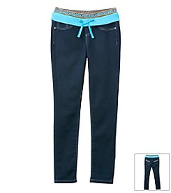 Squeeze® Girls' 7-16 Knit Waistband Jeans