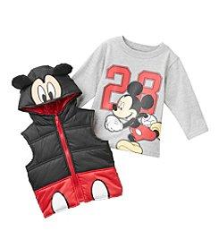 Nannette® Baby Boys' 12-24M Mickey Mouse® Vest Set