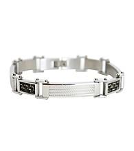 Stainless Steel Carbon Fiber Bracelet 8.5