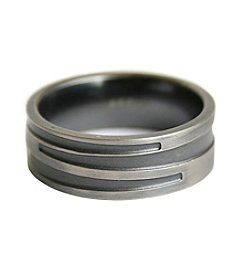 Stainless Steel Gunmetal Finish Design Band